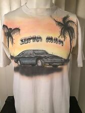 Vintage 1990s Toyota SUPRA MAN Airbrushed T-Shirt L Soft 50/50 One Of A Kind