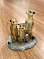 The Leonardo Collection Meerkats Animal Resin Ornament LP16671 New UK