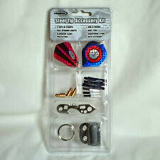 Halex Steel Tip Dart Accessory Kit - Flights, Shafts, Tool, Sharpener and More