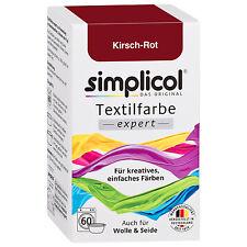 SIMPLICOL Textilfarbe EXPERT KIRSCH ROT 150g Farbe auch für Wolle & Seide