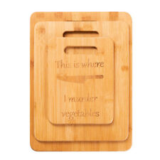 Kitchen Bamboo Wood Cutting Board This Is Where I Murder Vegetables Funny S/M/L