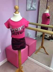 Pineapple Camoflage Raspberry Pink Double Layer Top. Age 5-6