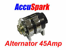 Accuspark 45Amp Chrome 18ACR Alternator MG,Triumph,Ford,Reliant,Mini + Many more