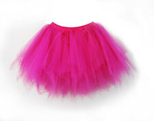 Girls Women Adult Tutu Skirts Mini Ballet Princess Fancy Multi-layer Dress Party
