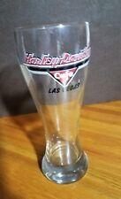 Harley Davidson Cafe Las Vegas Tall Pilsner Beer Glass - Clear - Red/black logo