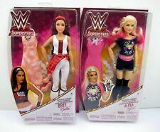 "Lot 2 WWE Superstars Brie Bella & Alexa Bliss Superstar Fashions 12"" Doll Mattel"