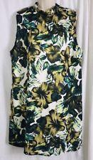 Dorothy Perkins Floral Hibiscus Print Shift Dress Women's Size 18