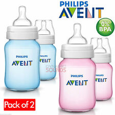 0 Months AVENT 260ml/ 9oz. Baby Bottles