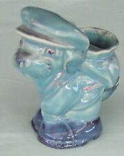Beswick Dog Blue Glaze with Cap & Golf Bag / Knapsack No. 624 England c1930's