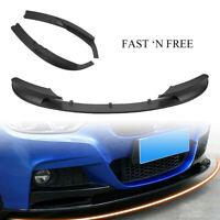 Matte Black Front Bumper Cover Lip Spoiler For 2012-18 BMW F30 3 Series M Style