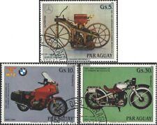 Paraguay 3821-3823 (edición completa) usado 1984 100 años motos