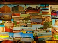 LOT OF 50 + UNUSED POSTCARDS *** ALL SIZES ~ USA & FOREIGN ~ CHROME / VINTAGE