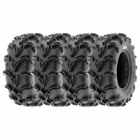 Set Bundle of 4 SunF 24x8-12 Front /& 24x11-10 Rear 6 Ply ATV//UTV Off Road Tires A001,