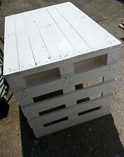 Tavolo con Pallet Bancali EUR  EPAL arredamento 120x80 bianco o colorato