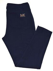 Michael Kors Blue Studded Logo Pull On Leggings Pants Size 12