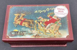 NEW!  PUNCH STUDIO BEAUTIFUL MUSIC BOX W 10 CHRISTMAS NOTE CARDS SET