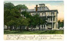 Cairo NY - HINE HOUSE HOTEL - Handcolored Postcard Catskills