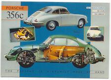 Porsche 356 Large Format MODERN postcard by Jenna