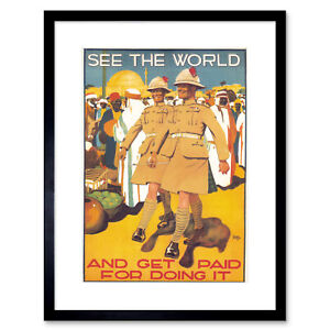 """Political Military Enlist British Army Colonial UK Framed Print Picture 12x16"""""""