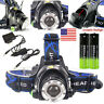 5XT6 LED Headlamp Rechargeable Head Light 250000LM Flashlight Torch Lamp Hunting
