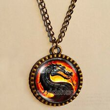Mortal Kombat X Dragon Necklace Art Pendant Fashion Jewelry Game Funny Chain