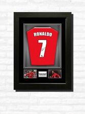 More details for cristiano ronaldo man utd  football shirt print or framed display free uk post