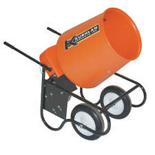 Wheelbarrow Mixer,3.5 Cu. Ft.,120V,3/4HP 350W