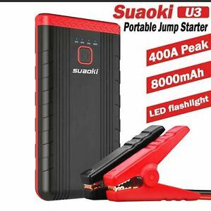 Suaoki Jump Starter U3 8000mAh Car Motorbike Battery Charger Motor Mechanics