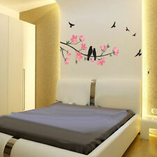 BLACK BIRD TREE BRANCH Wall Stickers Decal Removable Home Decor Mural Vinyl 2019