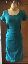 Turquoise Stretch Pencil Skirt Side Zip Size 14 From  White House Black Market