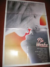 9 1/2 WEEKS original MOVIE POSTER >1986 Kim Basinger Mickey Rourke