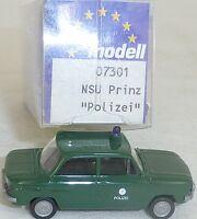 Police NSU Tt Voiture Particulière Prinz imu / Modèle Européen 07301 H0 1/87