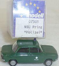 Policía NSU TT Camión PRINZ Imu / EUROMODELL 07301 H0 1/87 emb.orig # (LL1) å