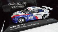 BMW M3 GTR ADAC 24th 2005 Winner au 1/43 MINICHAMPS 400052302 voiture miniature