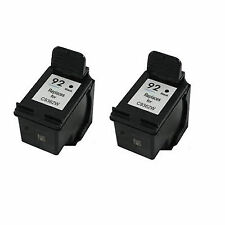 2x HP 92 C9362WN Black 60% More Remanufactured Ink Cartridge DeskJet 5420