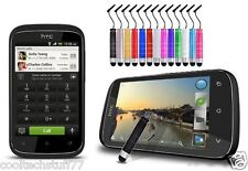 Mini Metallic Shiny Chrome Stylus Capacitive Pen for HTC Desire C (Twin Pack)