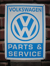 Volkswagen Parts & Service SIGN VW Bug Bus Bettle Mechanic Advertise Logo