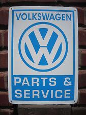 Volkswagen Parts & Service SIGN VW Bug Bus Bettle Mechanic Advertise Logo FreeSh