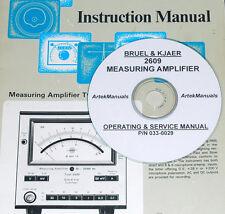 Bruel & Kjaer 2609 Measuring Amp, Operating & Service Manual w/Schematics