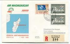 FFC 1986 Air Madagascar First Flight Zurich Antananarivo REGISTERED Onu