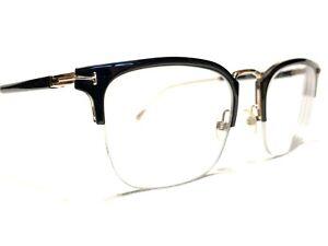 Tom Ford TF5611 001 Unisex Black & Gold Rx Designer Eyeglasses Frames 52/21