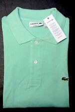 Lacoste L1212 Men's Classic Fit Cocktail Green Cotton Polo Shirt New 2XL EU 7