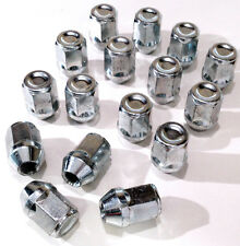 Set of 16 x M12 x 1.25, 21mm Hex, alloy wheel nuts lugs bolts for Nissan Cars