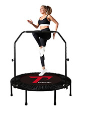 """TAEERY 48"""" Foldable Fitness Trampo-Lines, Rebound Recreational Exercise with 4"""