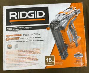 RIDGID (R09890B) - 18V Brushless Cordless 18ga. Brad Nailer (Tool Only)....NEW!!