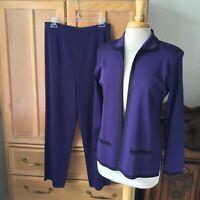 MISOOK 2 piece burgundy pantsuit Size MP