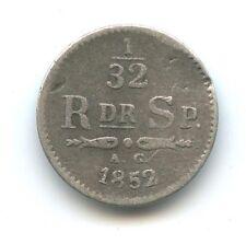 Suède Oscar 1/32 de Riksdaler 1852 AG KM 681