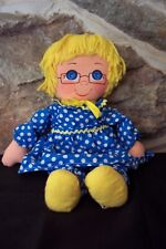 "vintage mattel 1973 mrs beasley talking 14"" yarn hair cloth rag doll"