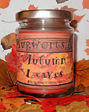 Autumn Leaves Scented Jar Candle,  gift, Wiccan Pagan Halloween, Samhain soy wax