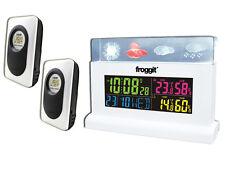 Funk Wetterstation Froggit WS70 Weiss Full Colour Display inkl. 2 Sensoren